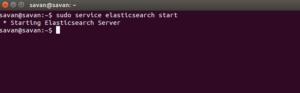 Elasticsearch server Installation: