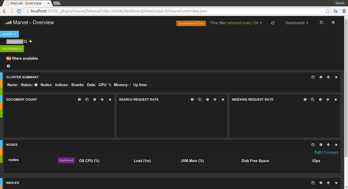 Marvel plugin default home page