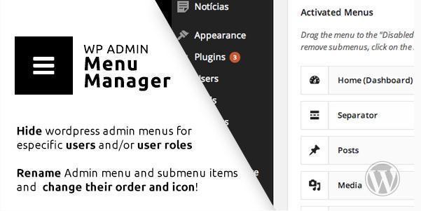 WP Admin Menu Manager