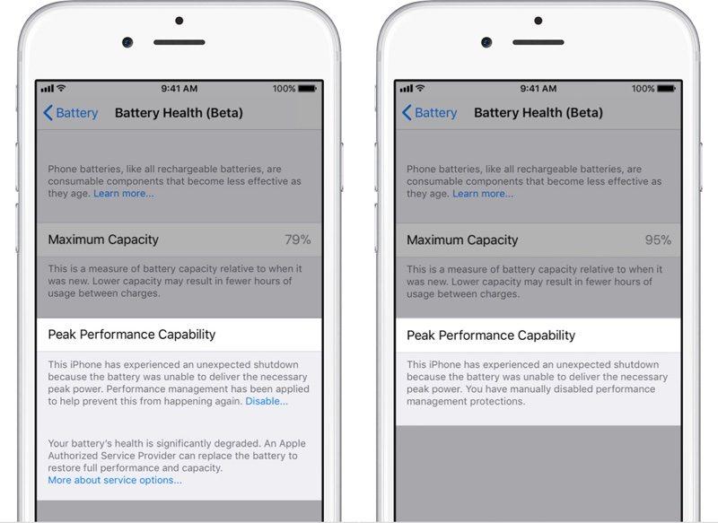 battery health Peak Performance