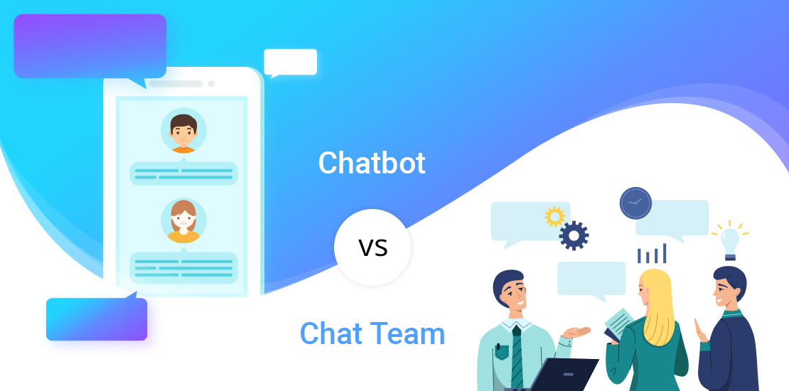 Chatbot versus Chat Team