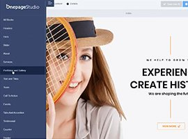 Onepage Studio Multipurpose Landing Page with Page Builder