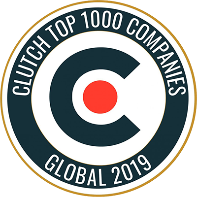 Clutch Top 1000 Companies - Multidots Badge